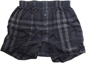 Image is loading Burberry-Japan-Men-Boxer-Underwear-Black-Knit-Trunks- c85629740