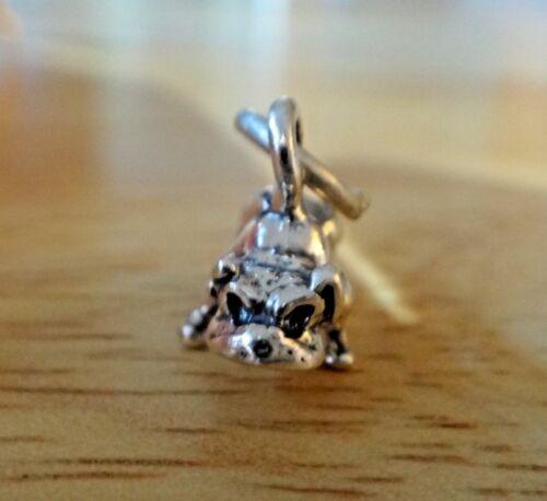 Sterling Silver 3D 11x13mm Petit Bulldog Bull Dog Charm