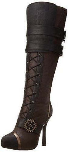 Ellie 420-Quinley Sailor Combat Lace Up Steampunk Gears Rock 4