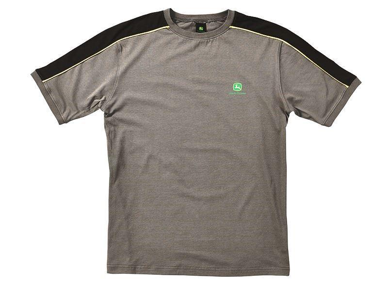 John Deere Cotton T-Shirt Work Grey 100% Cotton