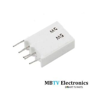 10 SMF Brand 1k ohms 5W 5/% ceramic cement wire wound resistors