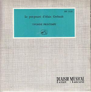 45TRS-VINYL-7-039-039-FRENCH-EP-YVONNE-PRINTEMPS-POT-POURRI-D-039-ALAIN-GERBAULT-1E-POCH