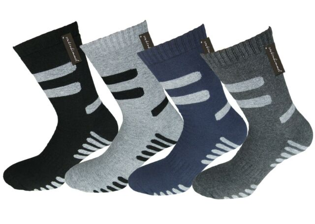 6 Pairs Mens Outdoor Hiking Socks Thermal Socks with FULL CUSHION - 95% cotton