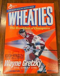 WAYNE GRETZKY WHEATIES CEREAL BOX (2003) TEAM CANADA / NY RANGERS SEALED FULL
