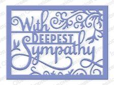 Impression Obsession DEEPEST SYMPATHY WORD BLOCK DIE DIE368-W New Release 2016