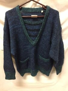 Details about Esprit Womens Blue & Green Sweater Sz M