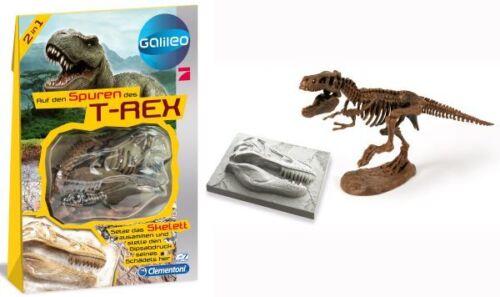"""GALILEO 2 in 1 /""""Auf den Spuren des /""""T-Rex Smilodon Triceratos/"""" Skelett /& Abdruck"""