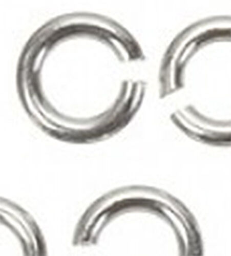SAFER THAN A JUMP RING 5 SECURE STERLING SILVER ROUND THINNER LOCK RINGS 6 MM