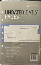 Franklin Covey Undated Daily Pages For 1 Month Classic Size 5 12 X 8 12