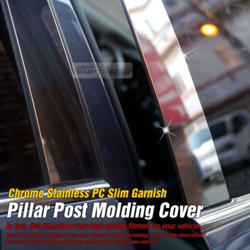 Chrome Pillar Post Flexible Stainless PC Molding For CHEVY 1998-2006 Silverado