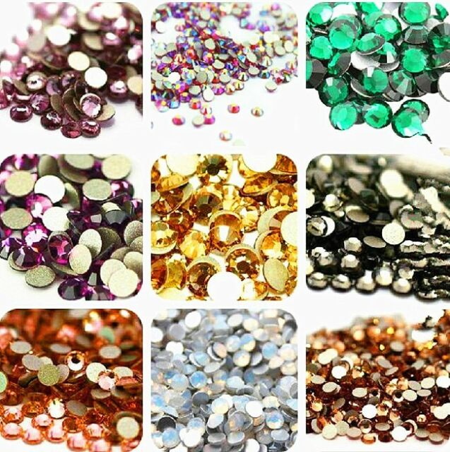 1400PC SS3 Nail Art Decorations Non Hot Fix Crystal Flat Back Rhinestones Gems