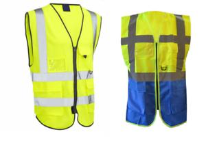 Sécurité de protection Hi Viz Gilet de Haute Sécurité Visibilité Gilet Réfléchissant PPE
