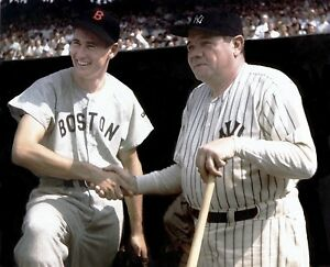 Ted williams and babe ruth red sox yankees alltime legends for Babe ruth coloring pages