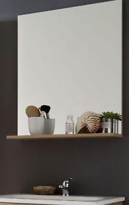 Bad Spiegel Badezimmer Wandspiegel Eiche Truffel Ablage 60 Cm Badmobel Intenso Ebay