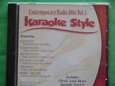 Contemporary Radio Hits Volume 1 & 2 Karaoke Style CD G Daywind 12 Songs