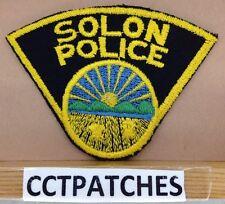 VINTAGE SOLON, OHIO POLICE SHOULDER PATCH OH