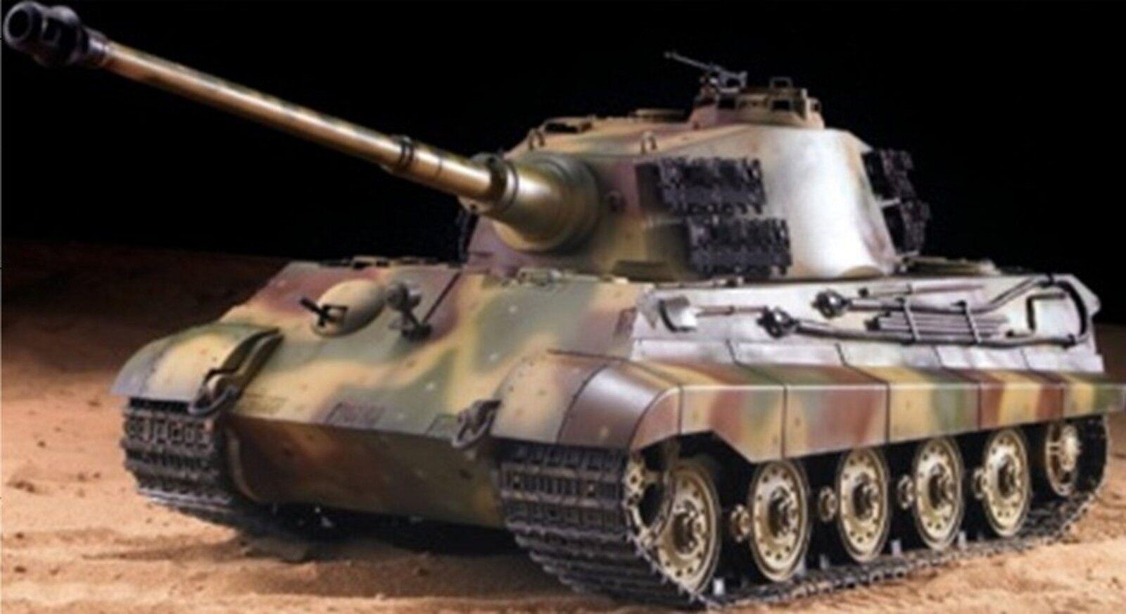 Heng Long RC Panzer Deutscher Königstiger Henschelturm, 1 16, Rauch, Sound, Meta