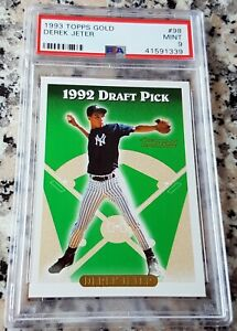 DEREK-JETER-1993-Topps-SP-GOLD-Rookie-Card-RC-PSA-9-MINT-RARE-NY-Yankees-HOF