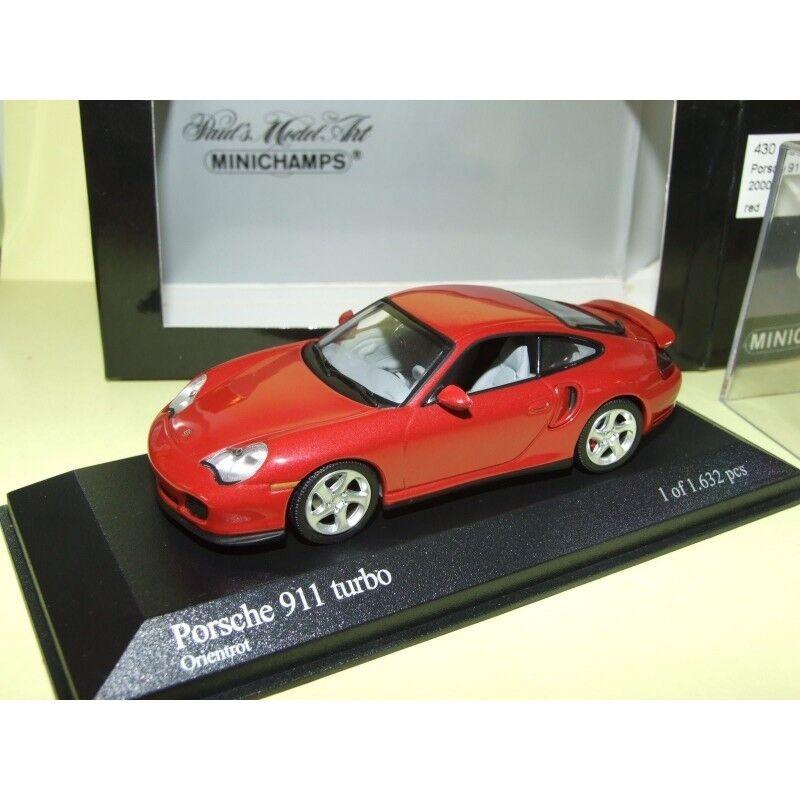 PORSCHE 911 TURBO 996 2000 Rouge Vin Orientrouge MINICHAMPS 1 43