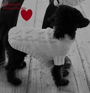 Knitting Pattern For Xs Dog Sweater : Knitting Pattern - Dog Coat/Sweater - cable detail - Xs to ...