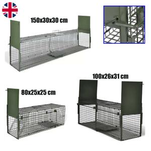 1/2 Door Animal Trap Life Catch Cage Bait Cat Rabbit Raccoon Fox Live Catch Trap