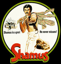 70's Burt Reynolds Classic Shamus Poster Art custom tee Any Size Any Color