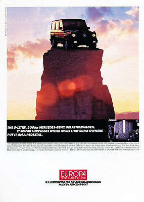 Classic Vintage Advertisement Ad D13 1999 Europa Mercedes Benz G500 Ver-5