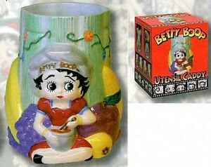 Chef   Betty Boop  Utensil Caddy WAS $20  NOW 1/2 Price!!!