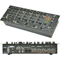 "14 input 4 Channel Pro Mobile DJ Mixer–USB Recording Crossfade Karaoke PA 4U 19"""