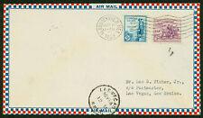 1933 AIR MAIL COVER ALBUQUERQUE, NM TO LAS VEGAS, NM - NICE FRANKING  (ESP#1570)
