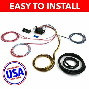 wire harness fuse block upgrade kit for 49 62 ford car stranded image is loading wire harness fuse block upgrade kit for 49