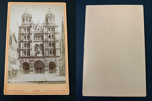 Th-Schahl-Dijon-eglise-Saint-Michel-Vintage-albumen-print-carte-cabinet-Ti