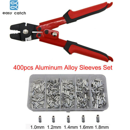 High Carbon Steel Fishing Pliers Wire Rope Swager Crimpers With Crimp Sleeves