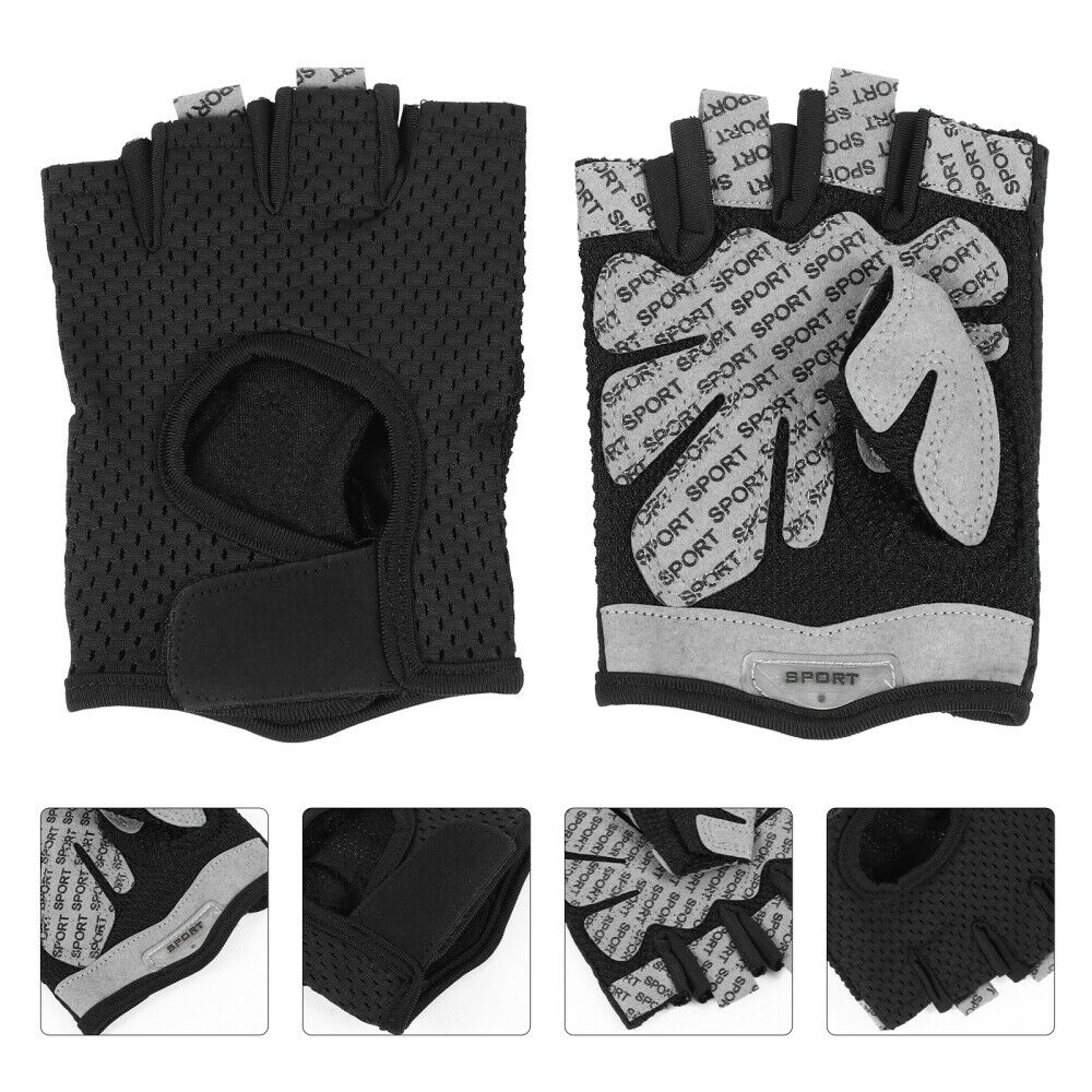 1 Pair Sports Protective Half Finger Gym Anti-Skid Cycling