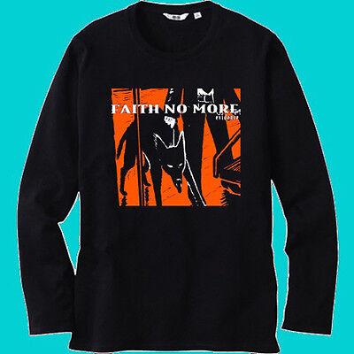 Faith No More *Angel Dust Logo Rock Band Long Sleeve Black T-Shirt Size S-3XL