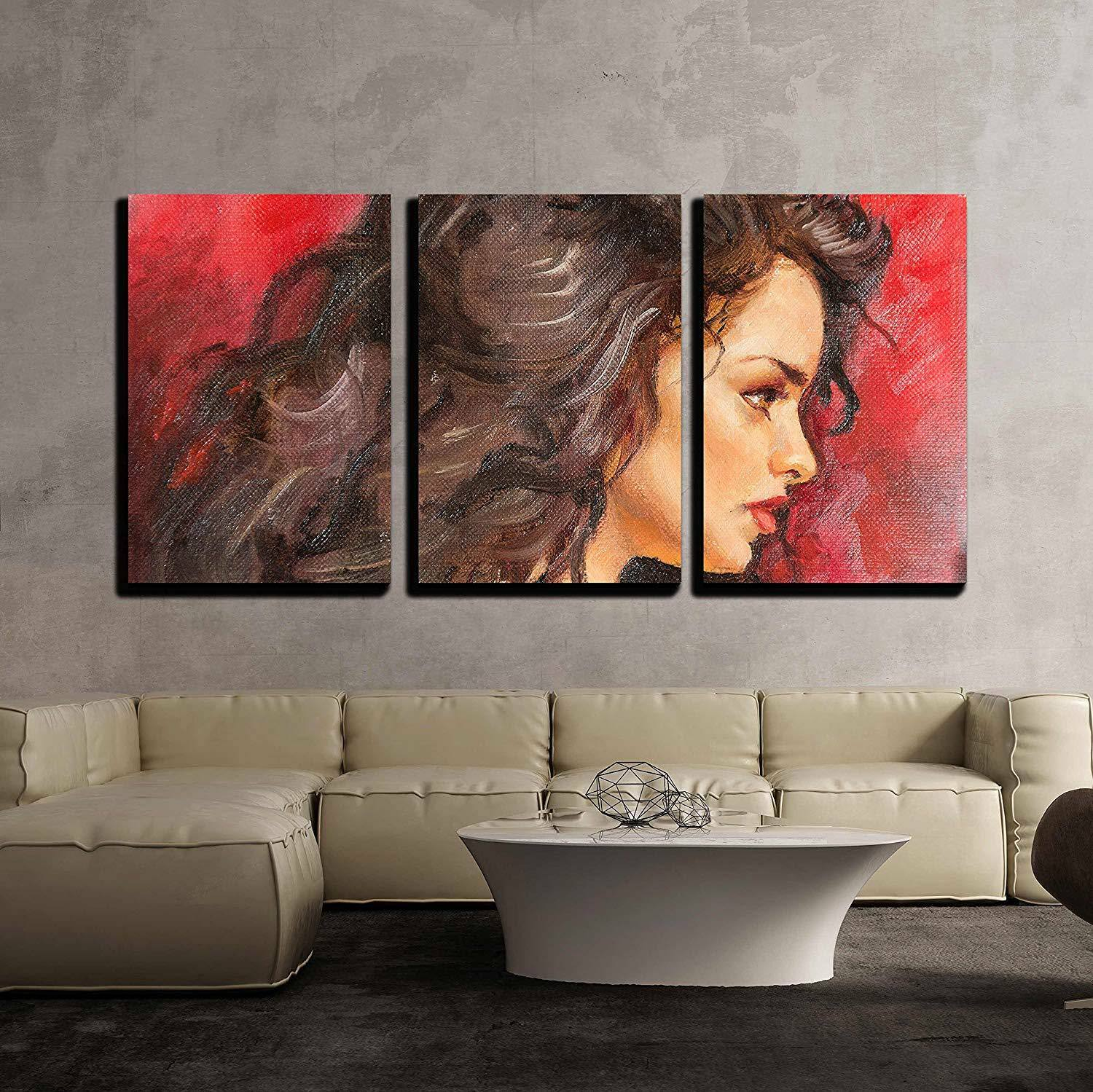 Wall26 - Oil Painting of a Young Woman - CVS - 16 x24 x3 Panels