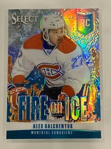 2013-14-Select-Fire-on-Ice-Rookies-Blue-FR20-Alex-Galchenyuk-NM-MT