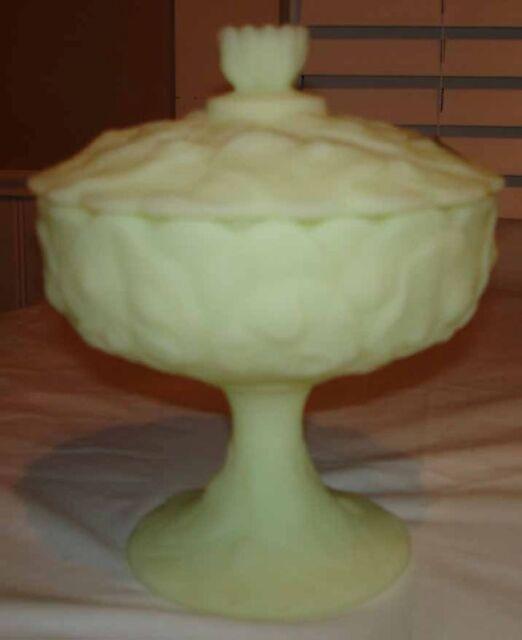 Vintage Fenton Custard Glass Satin Poppy Collection On Ebay
