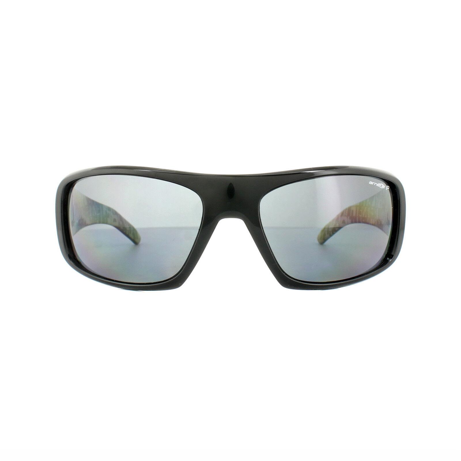 4b955a19431d Buy Arnette Hot Shot Sunglasses Shiny Black Polarized Grey an 4182 ...