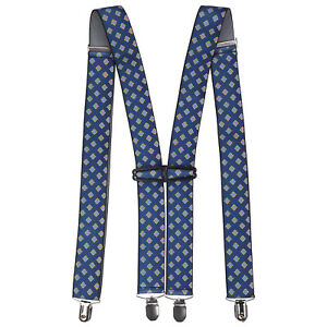 X-Forma-Elastico-Verde-Azulado-Pantalones-para-Hombre-Tirantes-35mm-Ancho-Con