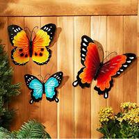 Patio Decorating Ideas Sunroom Hanging Indoor Outdoor Wall Art Metal Butterfly