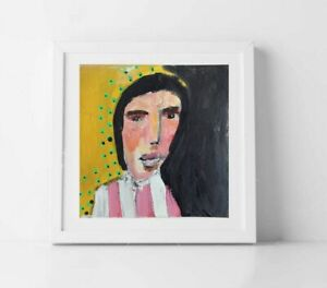 5x5 Print - Mr Broomstick Up His Arse Outsider Art Portrait Katie Jeanne Wood