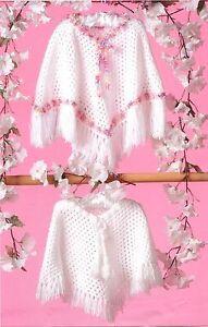 125-DK-Crochet-Pattern-for-Children-039-s-Ponchos-in-4-sizes-16-26-039-039