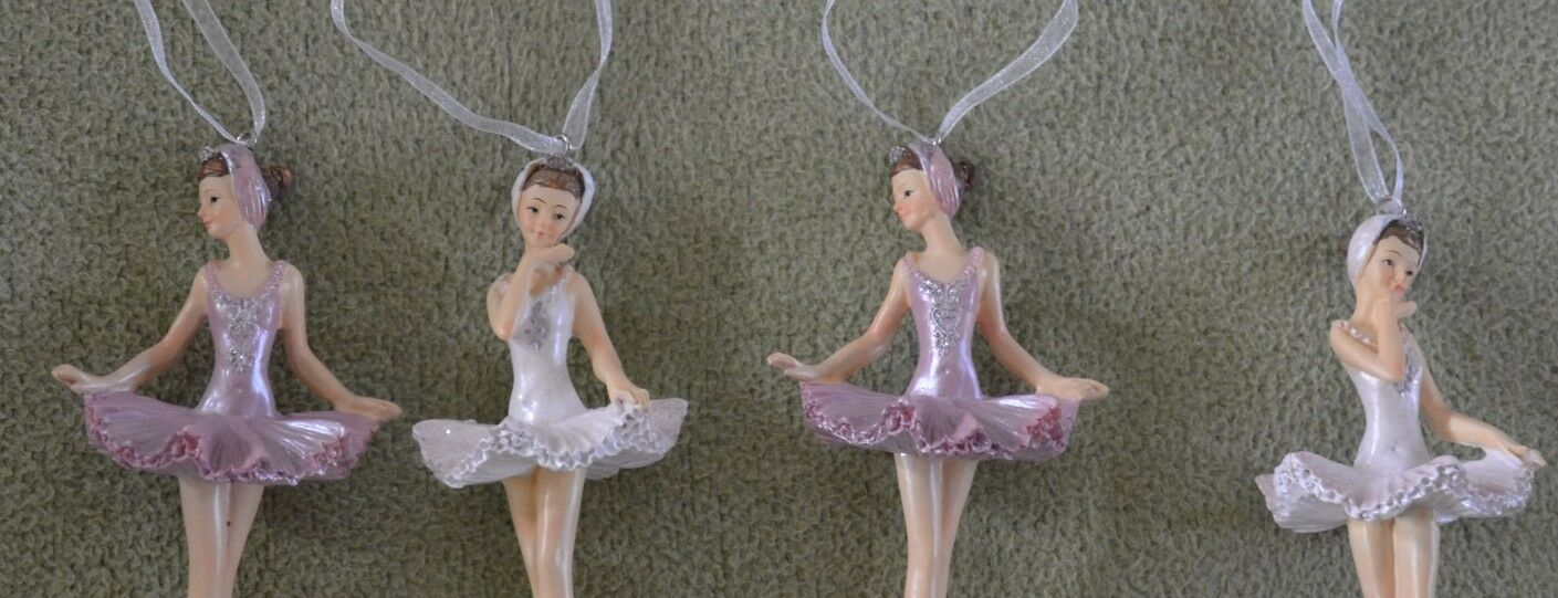 4x Gisela Graham Ballerina Shabby Shabby Shabby Anhänger Deko TOP   Jeder beschriebene Artikel ist verfügbar  eb7244