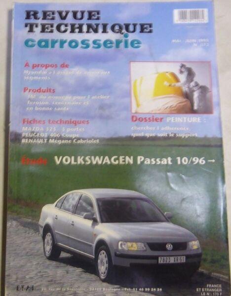 2019 Nieuwe Stijl Volkswagen Passat 10/96 Revue Technique Carrosserie Rta 173 1998 Mazda 323 406