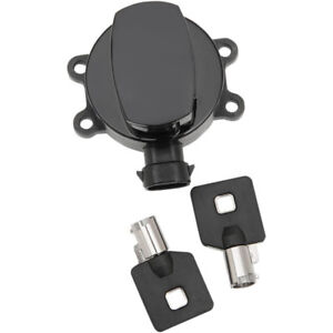 Drag-Specialties-Black-Ignition-Switch-for-11-17-Harley-Dyna-Softail-Road-King