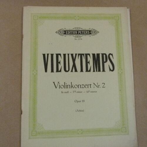 Arbos violin VIEUXTEMPS Violinkonzert Nr 2 Peters 2574 F# minor Op 19