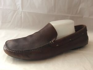 3c233ac03ef Cole Haan Mens 10.5 M Driving Loafer Moc Brown Shoes Slip On Boat ...