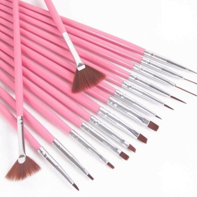 15Pcs Design DIY Acrylic Painting Tool UV Gel Pen Polish Nail Art Brush Set Kit
