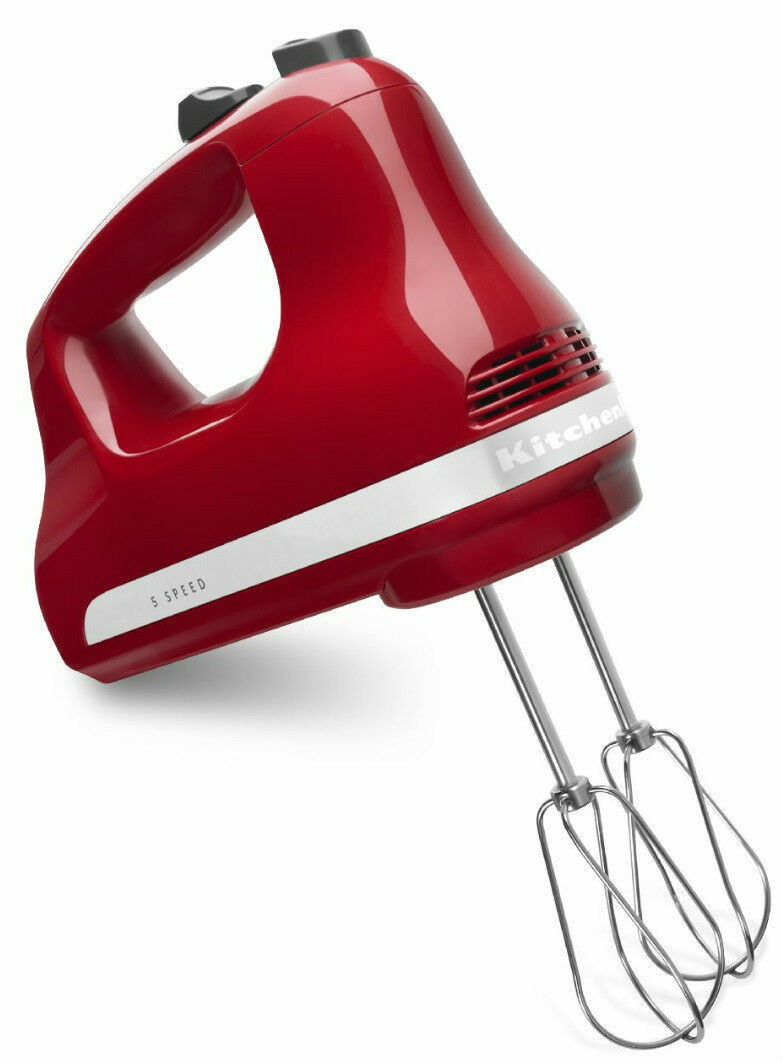 New KitchenAid Asembld in USA 5-Speed Ultra Power Hand Mixer khm512er Empire Red